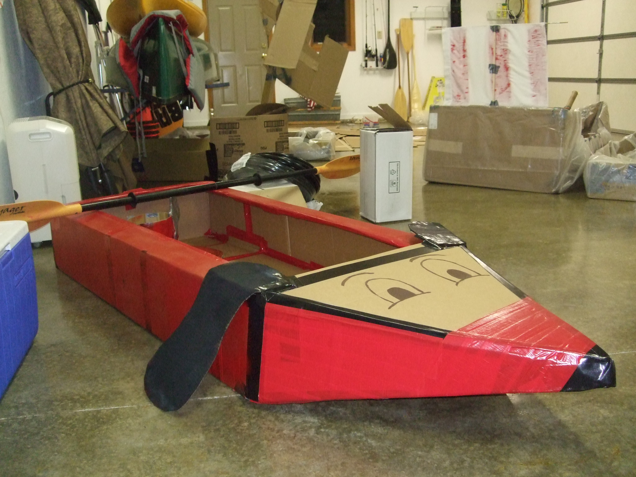 how to make a good boat out of cardboard