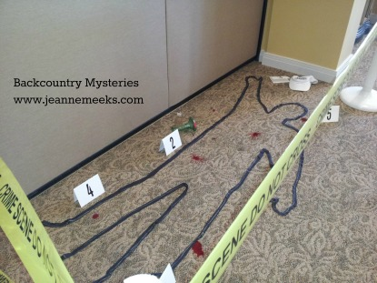 Clue chalk outline for pinterest